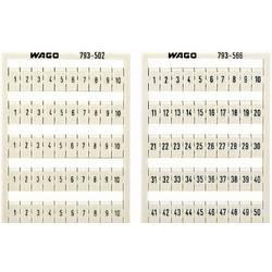 Karta pro značení Wago 793-5604, bílá