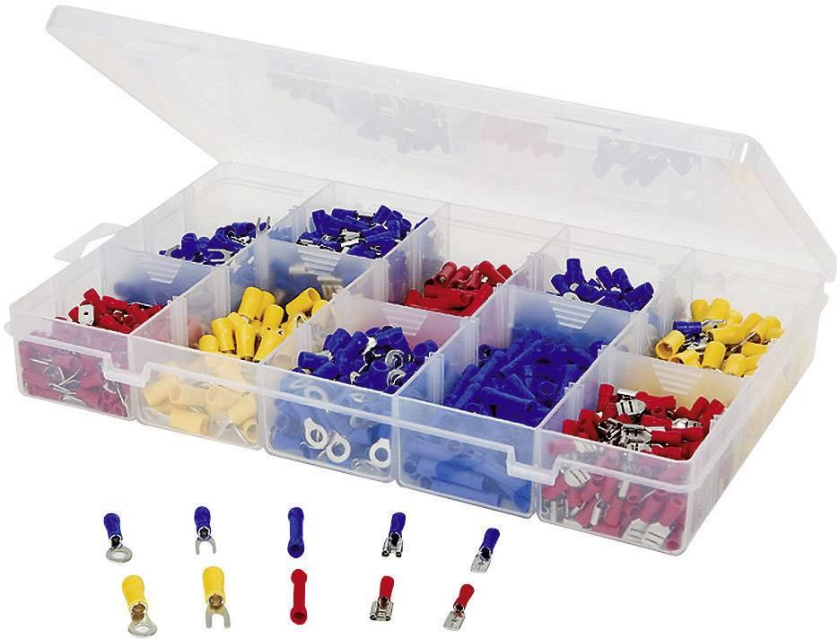 Sada krimpovacích spojok, 0,5 mm² - 2,5 mm², modrá / žltá / červená, 1000 ks