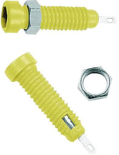 Laboratórna zásuvka Stäubli LB2-IF – zásuvka, vstavateľná vertikálna, Ø hrotu: 2 mm, žltá, 1 ks