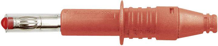 Lamelová zástrčka Stäubli X-GL-438 – zástrčka, rovná, Ø hrotu: 4 mm, červená, 1 ks