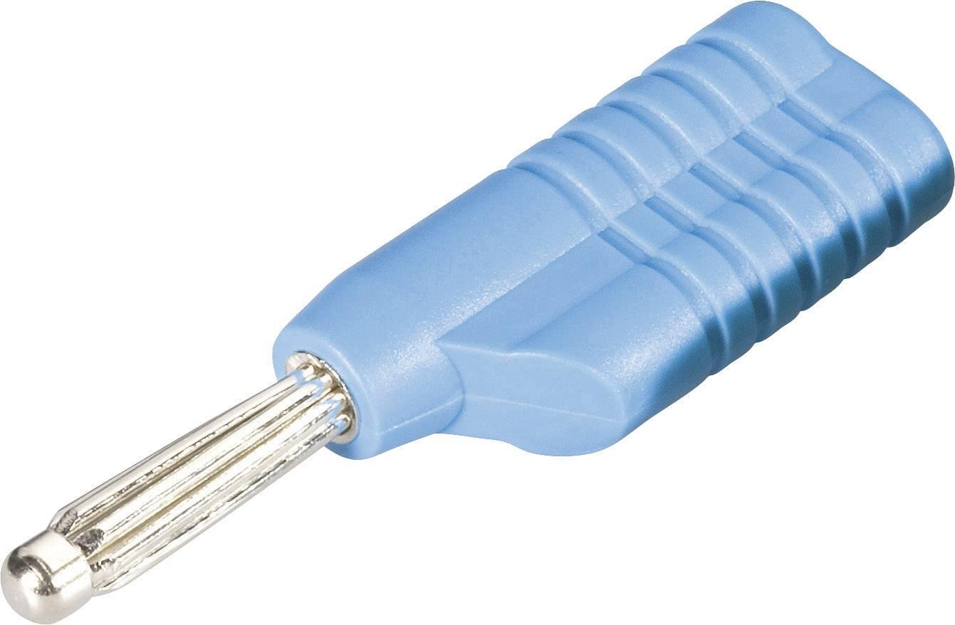 Banánový konektor Schnepp S 4041 L bl – zástrčka, rovná, Ø hrotu: 4 mm, modrá, 1 ks