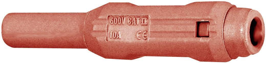 Laboratórna zásuvka Stäubli SL205-BA – zásuvka, rovná, Ø hrotu: 2 mm, červená, 1 ks