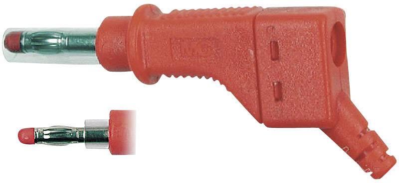 Lamelová zástrčka Stäubli XZGL-425 – zástrčka, rovná, Ø hrotu: 4 mm, červená, 1 ks