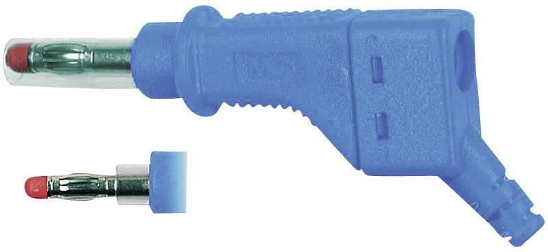 Lamelová zástrčka Stäubli XZGL-425 – zástrčka, rovná, Ø hrotu: 4 mm, modrá, 1 ks