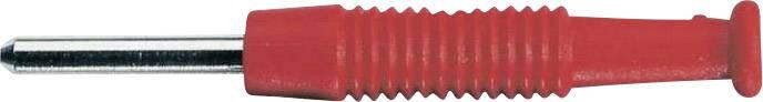 Mini banánkový konektor SKS Hirschmann MST 3 – zástrčka, rovná, Ø hrotu: 2 mm, červená, 1 ks