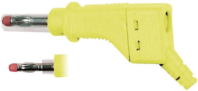 Lamelová zástrčka Stäubli XZGL-425 – zástrčka, rovná, Ø hrotu: 4 mm, žltá, 1 ks