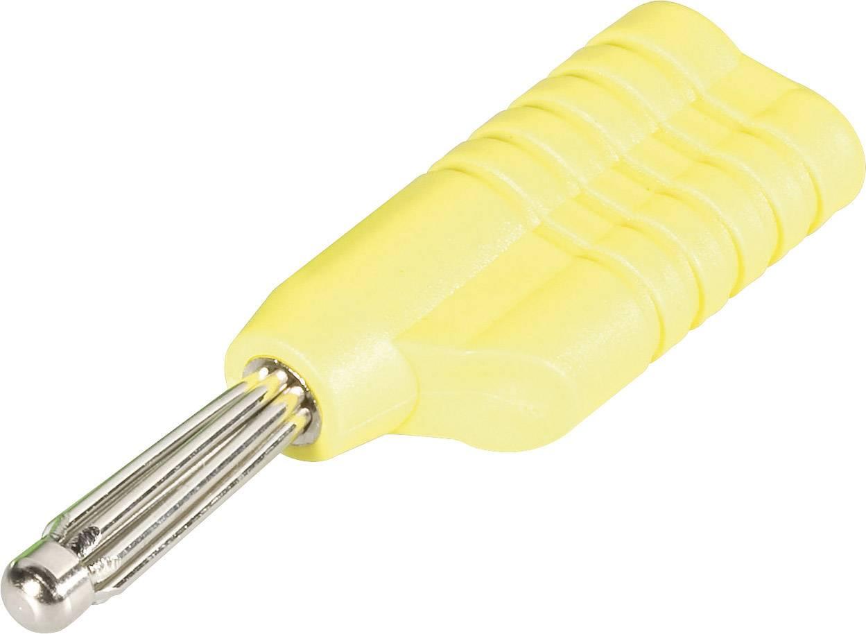 Banánový konektor Schnepp S 4041 S – zástrčka, rovná, Ø hrotu: 4 mm, žltá, 1 ks