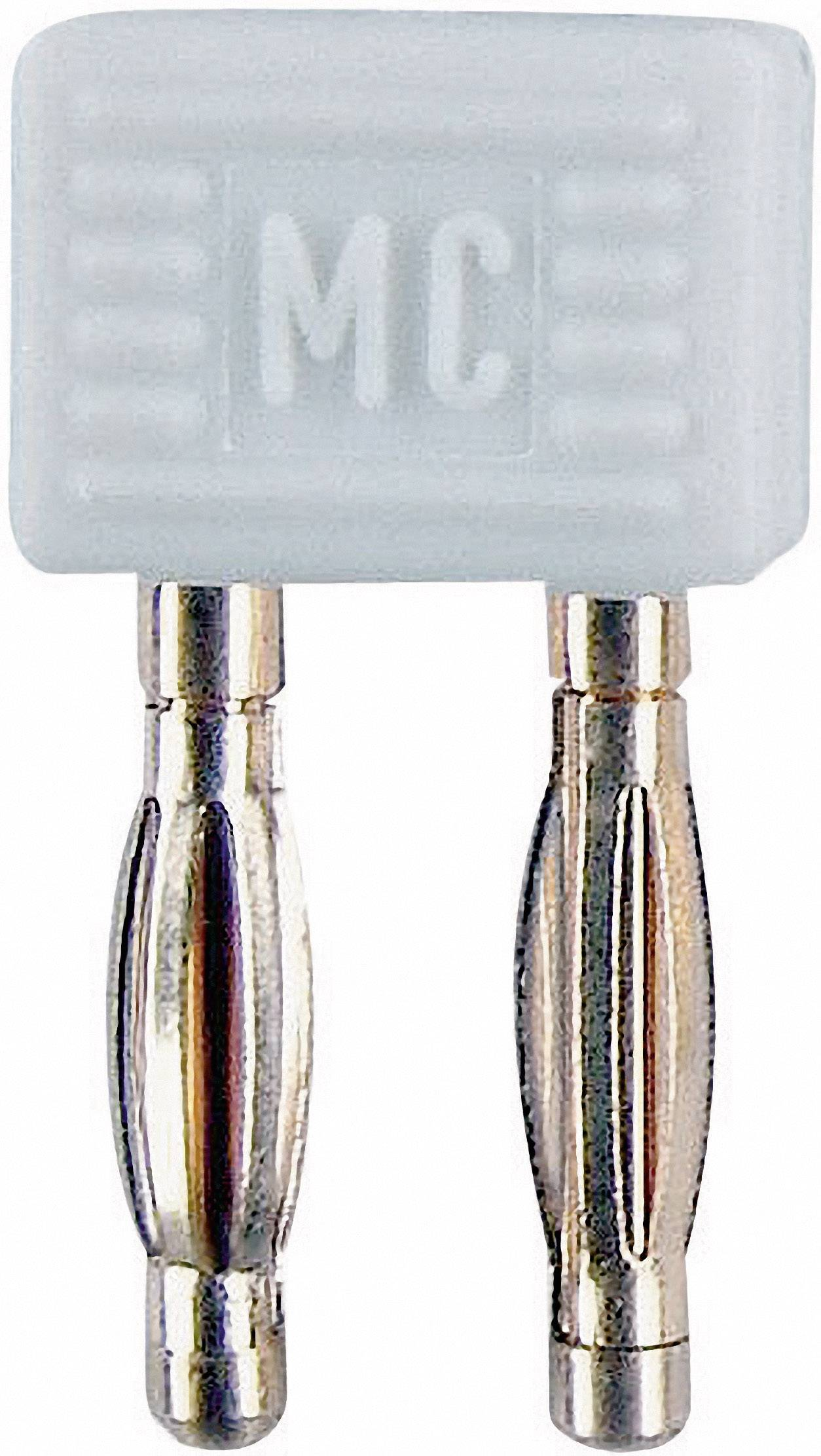 Spojovací konektor Stäubli KS2-5,08L, Ø hrotu 2 mm, rozostup hrotov 5.08 mm, biela, 1 ks