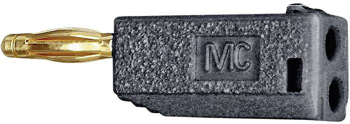 Lamelová zástrčka Stäubli SLS205-A – zástrčka, rovná, Ø hrotu: 2 mm, čierna, 1 ks