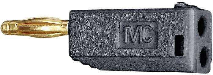 Lamelová zástrčka Stäubli SLS425-AM – zástrčka, rovná, Ø hrotu: 4 mm, čierna, 1 ks