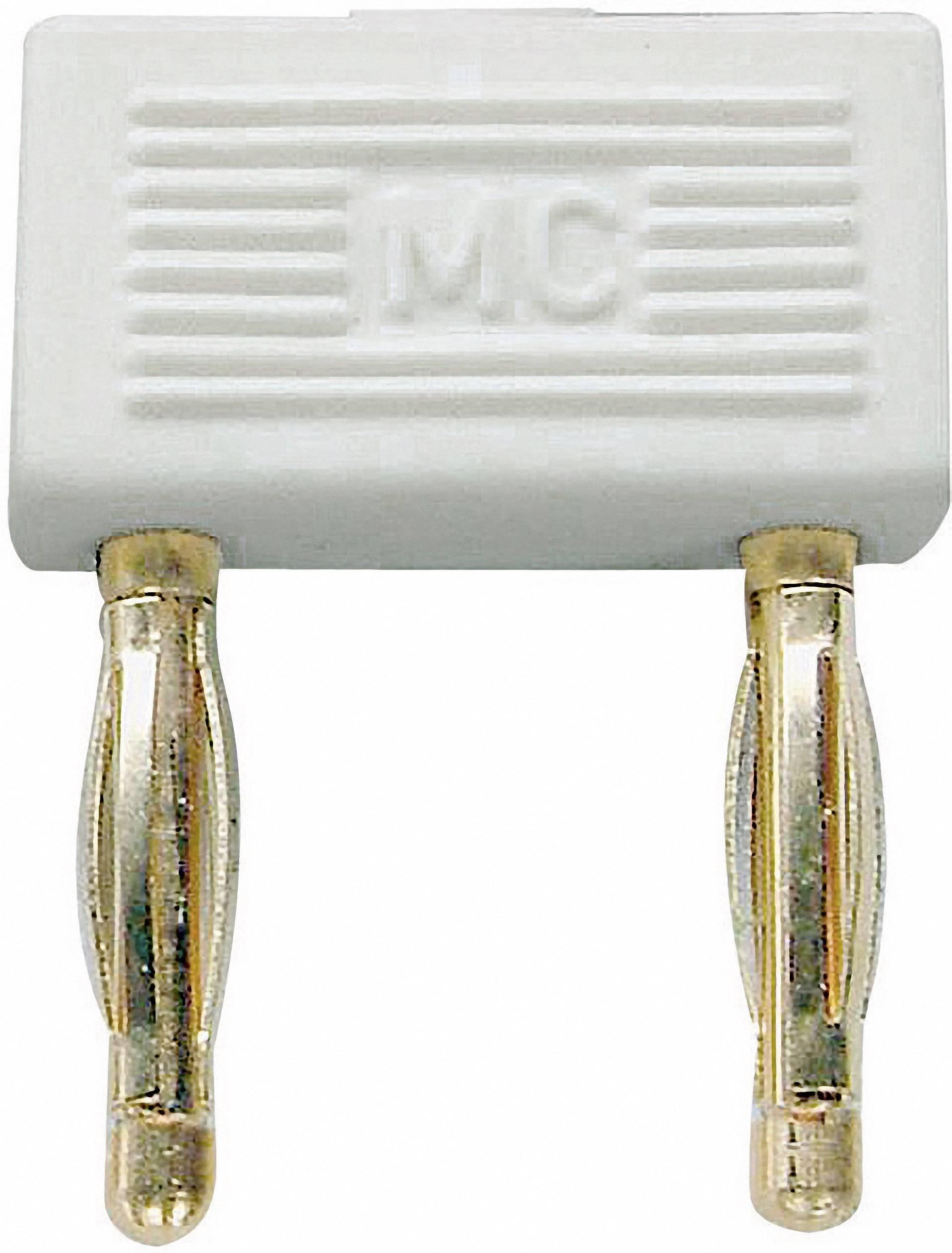 Spojovací konektor Stäubli KS2-10L/1, Ø hrotu 2 mm, rozostup hrotov 10 mm, biela, 1 ks