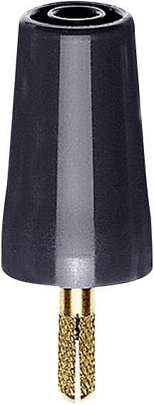 Prechodový konektor zástrčka 4 mm - zásuvka 4 mm Stäubli A-SLK4, čierna, 1 ks