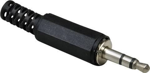 Jack konektor 3.5 mm stereo zástrčka, rovná BKL Electronic 1107003, pinov 3, strieborná, 1 ks