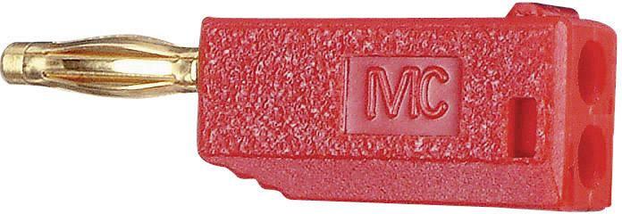 Lamelová zástrčka Stäubli SLS205-A – zástrčka, rovná, Ø hrotu: 2 mm, červená, 1 ks