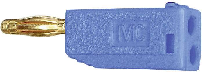 Lamelová zástrčka Stäubli SLS205-A – zástrčka, rovná, Ø hrotu: 2 mm, modrá, 1 ks