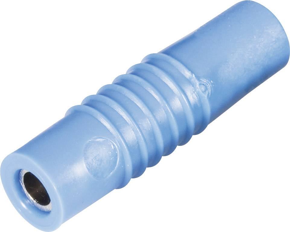 Laboratórna zásuvka Schnepp KP 4000 L – zástrčka, rovná, Ø hrotu: 4 mm, modrá, 1 ks