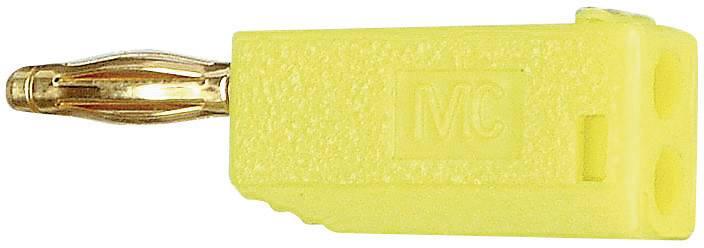 Lamelová zástrčka Stäubli SLS205-A – zástrčka, rovná, Ø hrotu: 2 mm, žltá, 1 ks