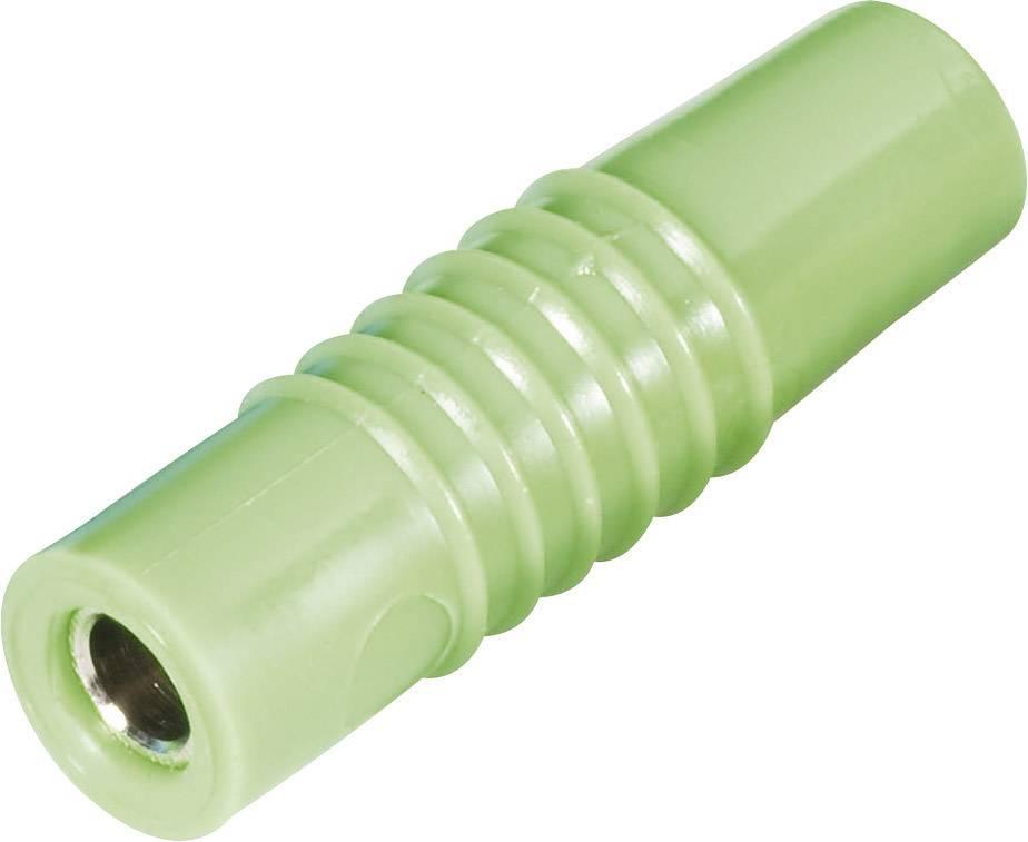 Laboratórna zásuvka Schnepp KP 4000 L – zástrčka, rovná, Ø hrotu: 4 mm, zelená, 1 ks