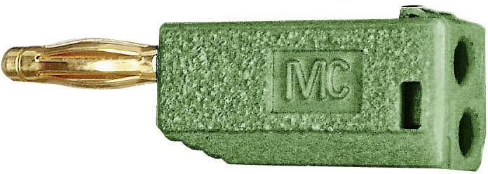 Lamelová zástrčka Stäubli SLS205-A – zástrčka, rovná, Ø hrotu: 2 mm, zelená, 1 ks