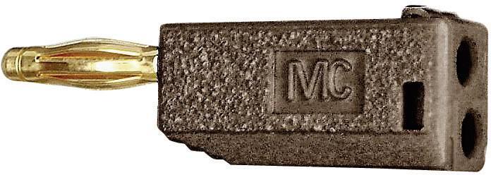 Lamelová zástrčka Stäubli SLS205-A – zástrčka, rovná, Ø hrotu: 2 mm, hnedá, 1 ks