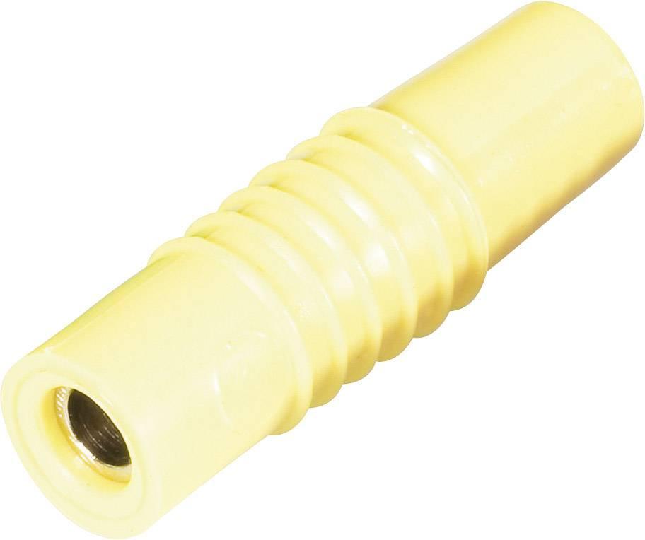 Laboratórna zásuvka Schnepp KP 4000 S – zástrčka, rovná, Ø hrotu: 4 mm, žltá, 1 ks