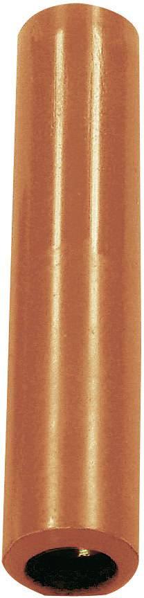 Krabicová spojka zásuvka 4 mm - zásuvka 4 mm Stäubli KK4/4, červená, 1 ks
