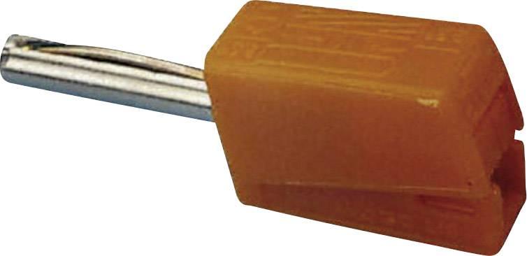 Banánový konektor WAGO – zástrčka, rovná, Ø hrotu: 4 mm, oranžová, 1 ks