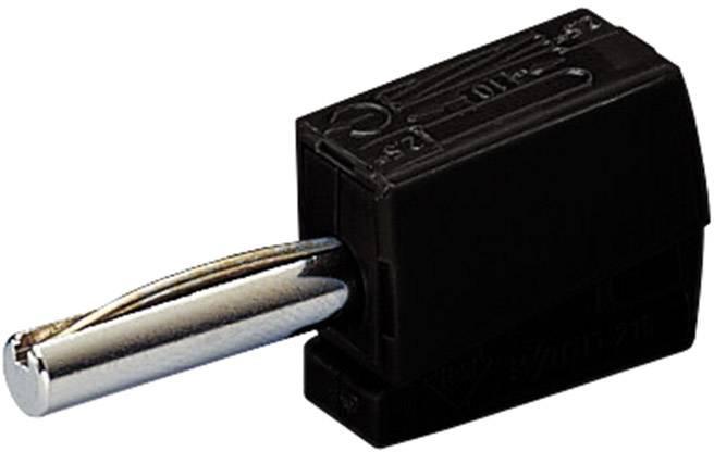 Banánový konektor WAGO – zástrčka, rovná, Ø hrotu: 4 mm, čierna, 1 ks