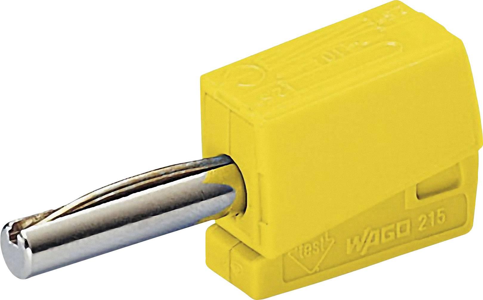 Banánový konektor WAGO – zástrčka, rovná, Ø hrotu: 4 mm, žltá, 1 ks