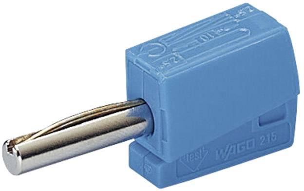 Banánový konektor zástrčka, rovná Ø hrotu: 4 mm modrá WAGO 1 ks