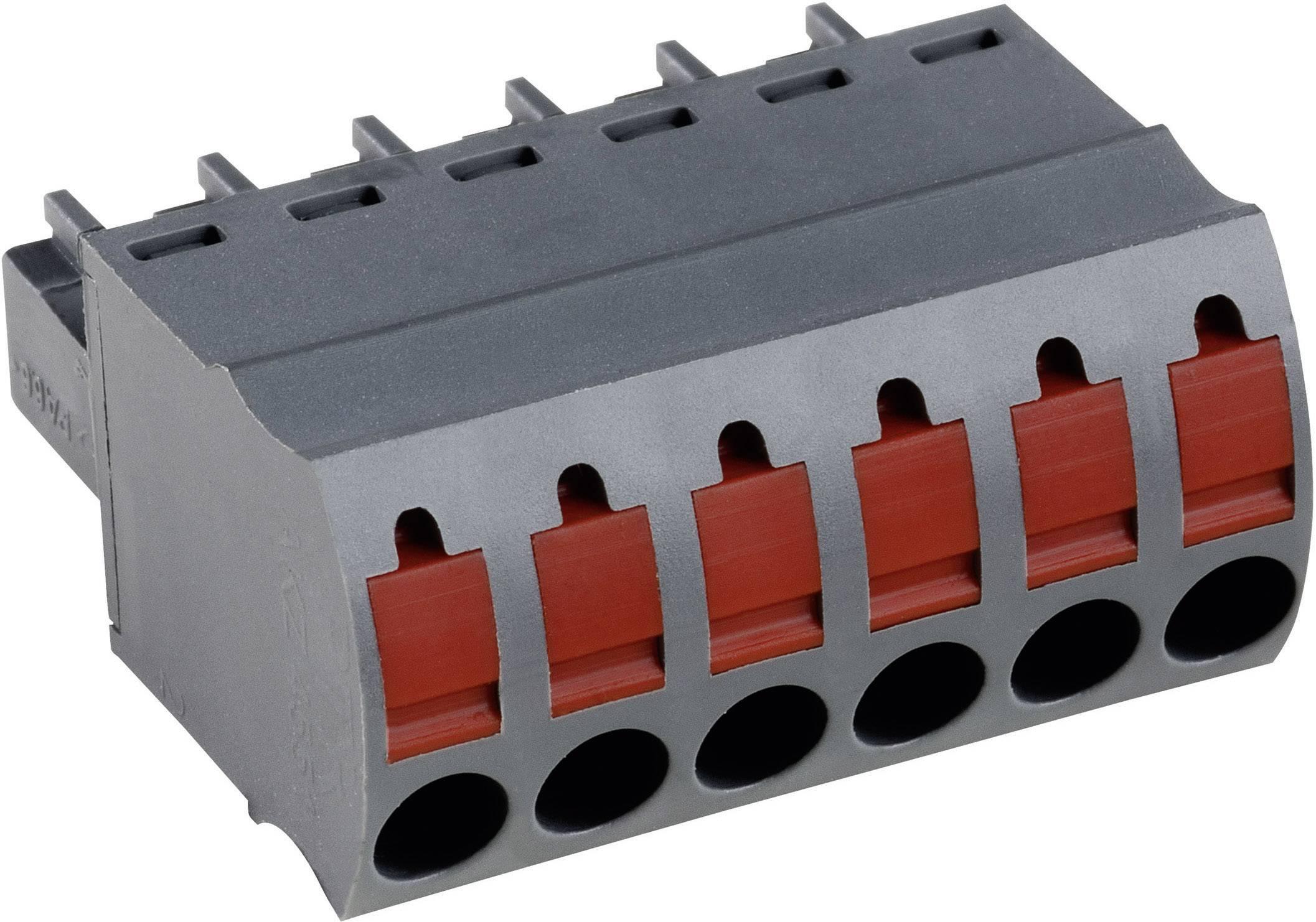 Zásuvkové púzdro na kábel PTR AKZ4551/4KD-3.81 54551040421F, 21.10 mm, pólů 4, rozteč 3.81 mm, 1 ks