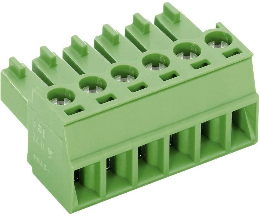 Zásuvkové púzdro na kábel PTR AKZ1550/10-3.81 51550100025D, 38.10 mm, pólů 10, rozteč 3.81 mm, 1 ks