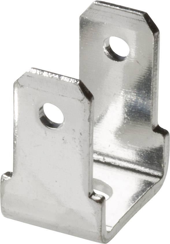 Jazýček konektora Vogt Verbindungstechnik 381790.67 4.8 mm x 0.8 mm, 90 °, 90 °, neizolované, kov, 1 ks