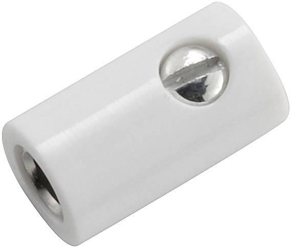 Mini laboratórna zásuvka – zásuvka, rovná, Ø hrotu: 2.6 mm, biela, 1 ks