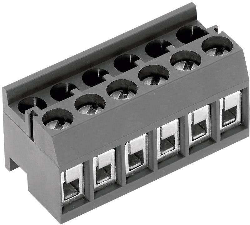 Skrutkovacia svorka PTR AK1350/12DS-3.5 51350120001E, 1.50 mm², Počet pinov 12, sivá, 1 ks