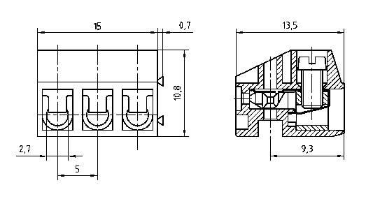 Zásuvkové púzdro na kábel PTR AK130/8-5.0 50130080001E, 40.00 mm, pólů 8, rozteč 5 mm, 1 ks