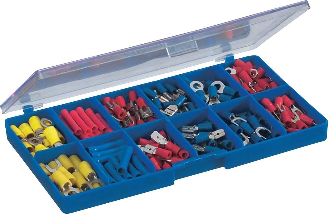 Sada lisovaných konektorů a spojek, 0,5 mm² - 2,5 mm², modrá/žlutá/červená, 230 ks