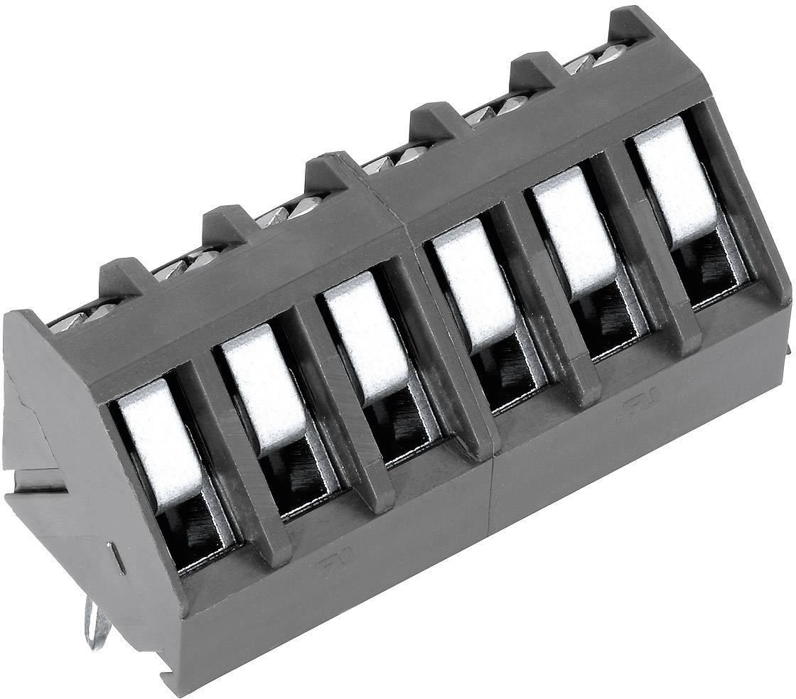 Skrutkovacia svorka PTR AK300/6-5.0 50300060041F, 1.50 mm², počet pinov 6, sivá, 1 ks