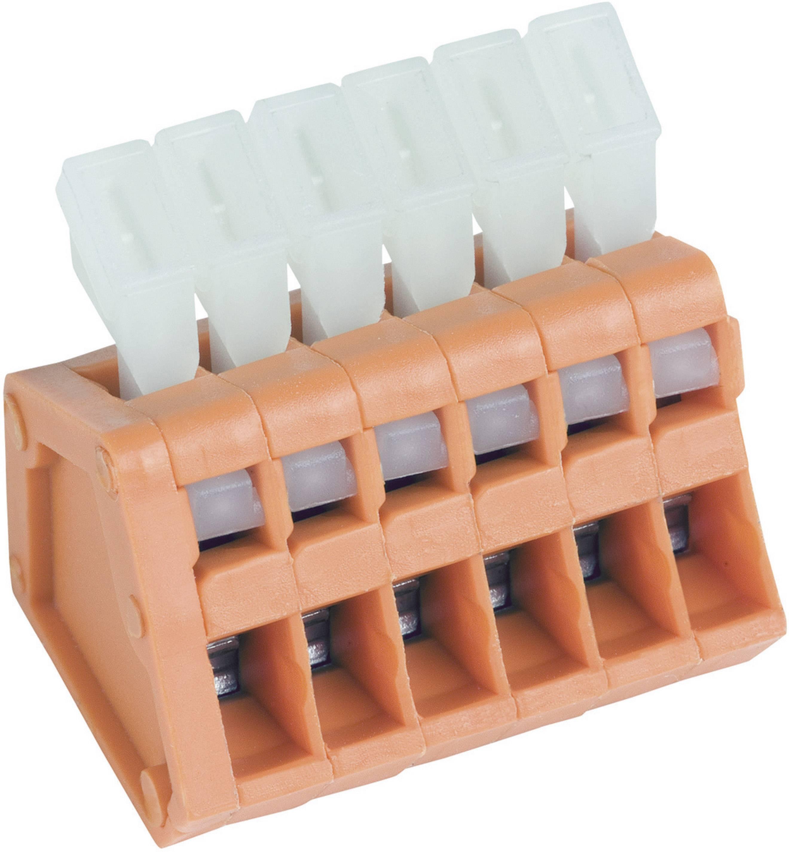 Pružinová svorka PTR AKZ3191/2KD-2.54 53191020321D, 0.50 mm², počet pinov 2, oranžová, 1 ks