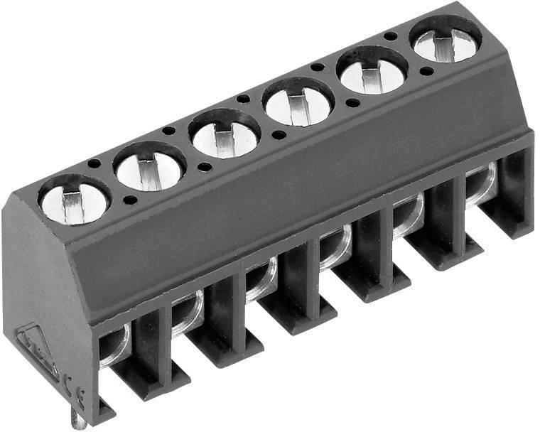Skrutkovacia svorka PTR AK550/2DS-3.5-V 50550020121G, 1.00 mm², počet pinov 2, sivá, 1 ks