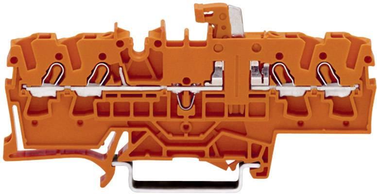 Oddělovací svorka Wago 2002-1872, pružinová, 5,2 mm, oranžová