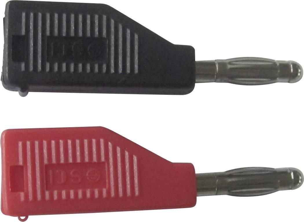 Banánový konektor SCI R8-B19 B – zástrčka, rovná, Ø hrotu: 4 mm, čierna, 1 ks