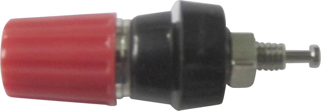 Pólová svorka TRU COMPONENTS TC-R1-14M R, 10 A, červená, 1 ks