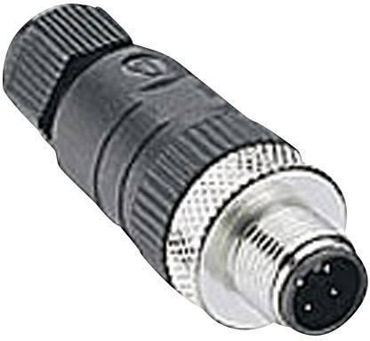 Výkonová zásuvka rovná Lumberg RSC 4/9 (108645), M12, rovná, 4 - 8 mm, černá
