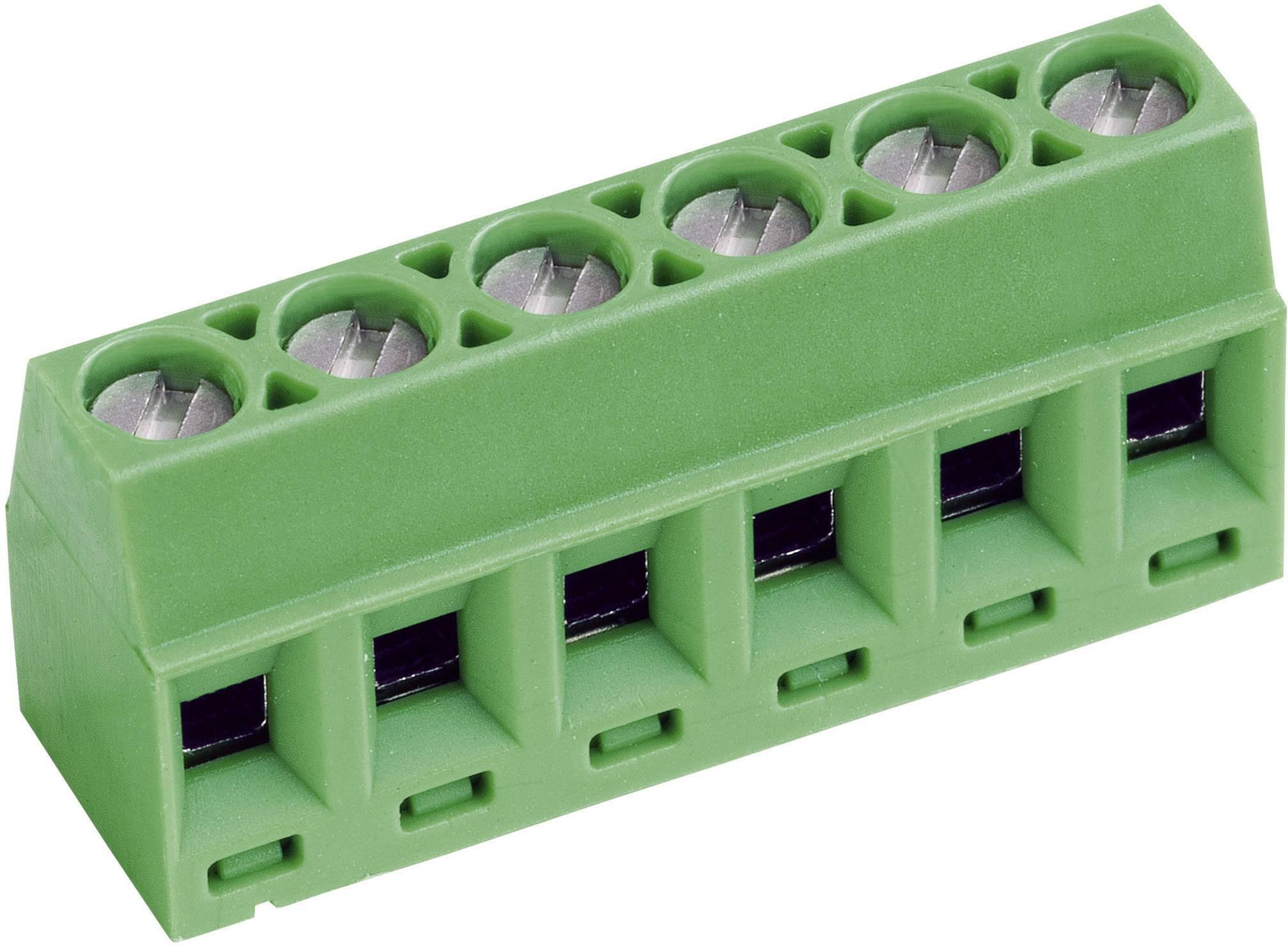 Skrutkovacia svorka PTR AKZ602/8-3.81-V 50602080021E, 1.00 mm², počet pinov 8, zelená, 1 ks