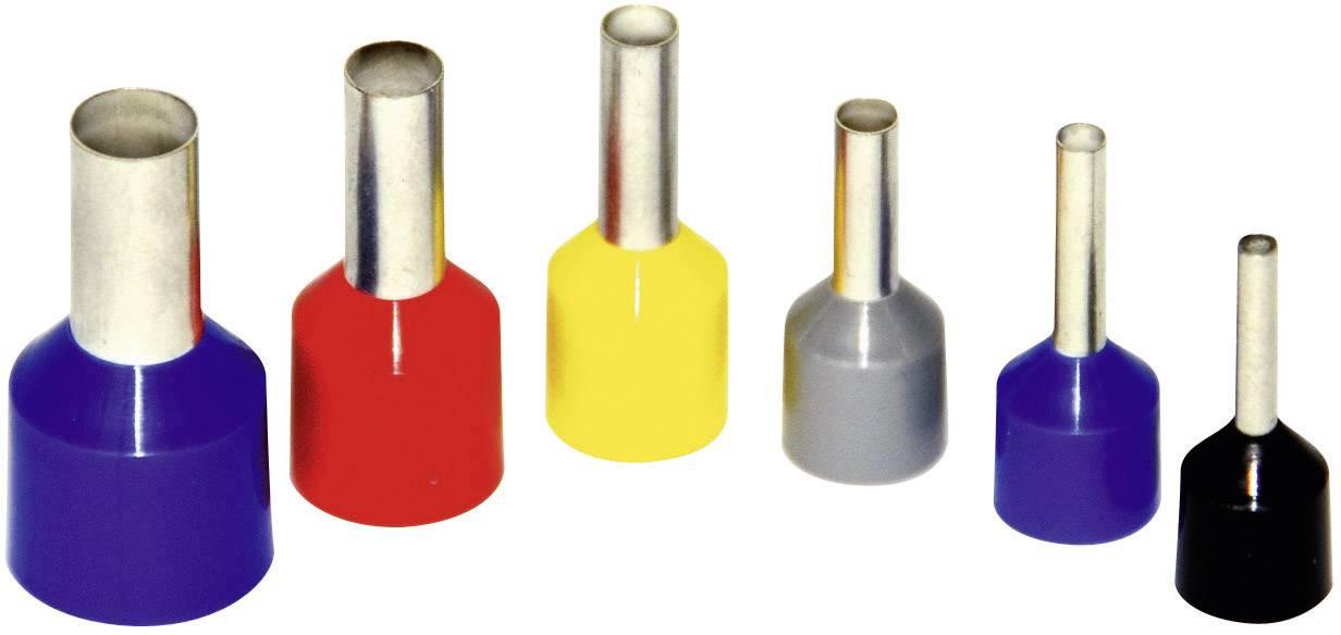 Dutinka Vogt Verbindungstechnik 460610ks, 4 mm², 10 mm, čiastočne izolované, sivá, 100 ks