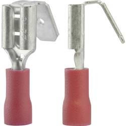 Faston zásuvka Vogt Verbindungstechnik 3925 s odbočkou, 6.3 mm x 0.8 mm, 180 °, částečná izolace, červená, 1 ks