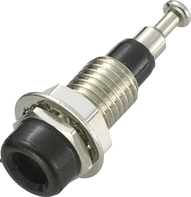 Bezpečnostný konektor SCI R1-17 – zásuvka, vstavateľná vertikálna, Ø hrotu: 2 mm, čierna, 1 ks