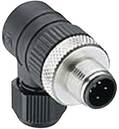 Výkonová zásuvka úhlová Lumberg RSCW 4/9 (108654), M12, úhlová, 4 - 8 mm, černá