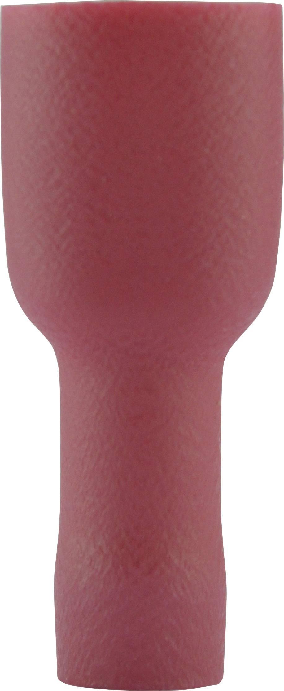 Faston zásuvka Vogt Verbindungstechnik 3944S 6.3 mm x 0.8 mm, 180 °, plná izolace, červená, 1 ks